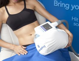 Female CoolSculpting Treatment